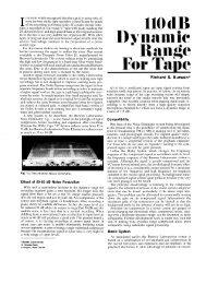 110 dB Dynamic Range for Tape - Audio June 1971