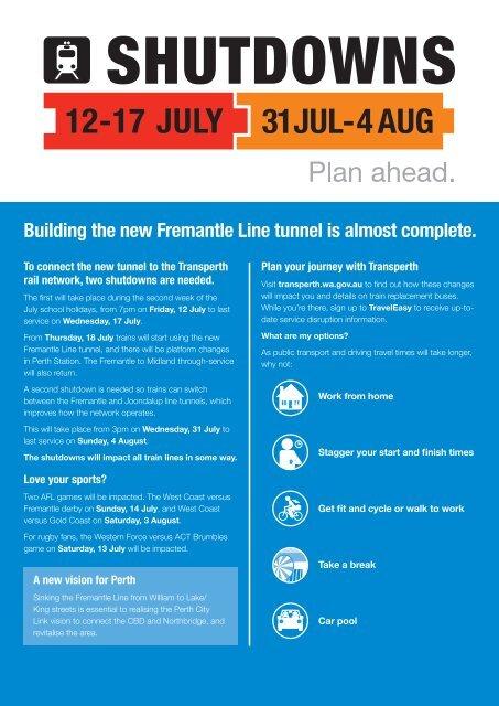 Train Shutdown Brochure - Transperth