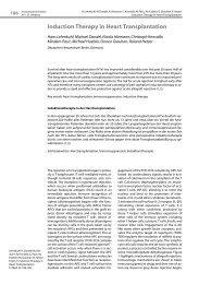 Induction Therapy in Heart Transplantation - Transplantation.de