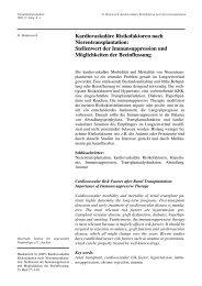 Kardiovaskuläre Risikofaktoren nach Nierentransplantation ...