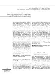immunsuppression und monitoring nach dünndarmtransplantation