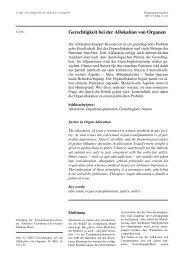 Gerechtigkeit bei der Allokation von Organen - Transplantation.de