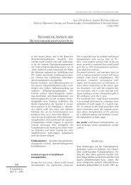 technische aspekte der dünndarmtransplantation - Transplantation.de