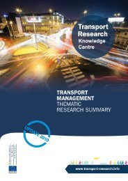 Transport Management - Transport Research & Innovation Portal
