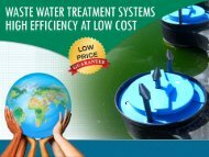 Waste Water Treatment Systems – High Efficiency at Low Cost