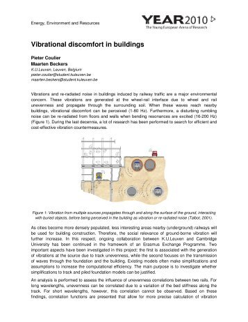 Vibrational discomfort in buildings