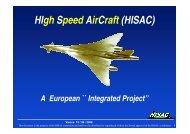 HIgh Speed AirCraft (HISAC) - Aeronautics Days 2006