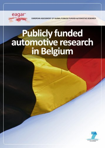 EAGAR – Publicly funded automotive research in Belgium