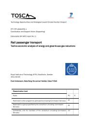 WP3: Rail Passenger Transport - TOSCA Project