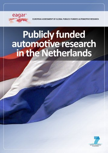 Publicly funded automotive research in the Netherlands - EAGAR