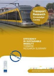 Efficiency in Sustainable Mobility - Thematic Research Summary