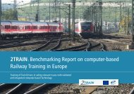 Benchmarking Report on computer-based Railway Training ... - 2train