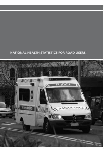 National health statistics for road users - Ministry of Transport