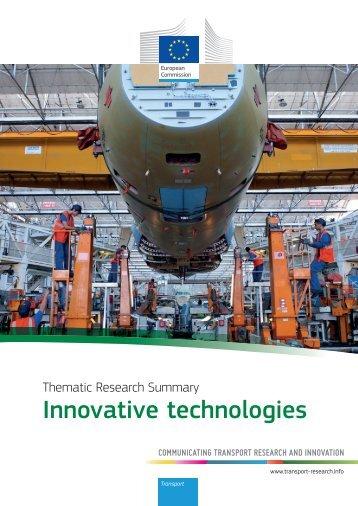Innovative Technologies - Transport Research & Innovation Portal