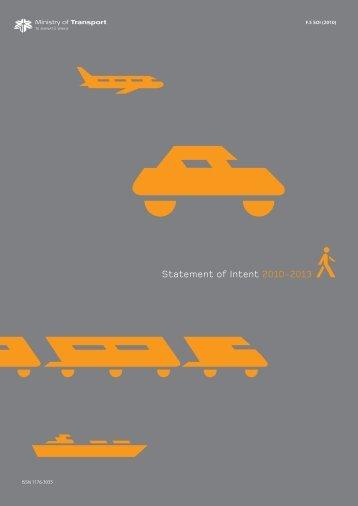 Statement of Intent 2010-2013 (PDF, 317kb) - Ministry of Transport