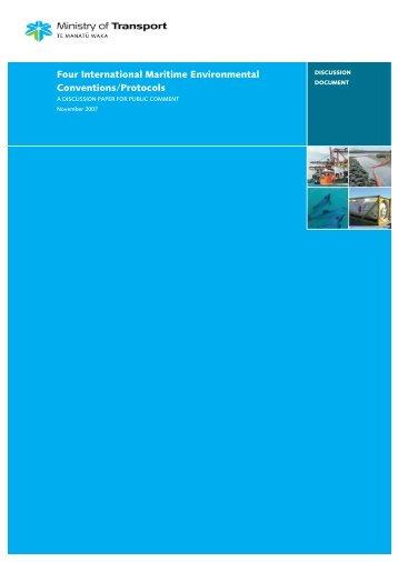Four International Maritime Environmental Conventions/Protocols ...
