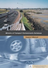 Ministry of Transport Contaminants Database Support Manual ...