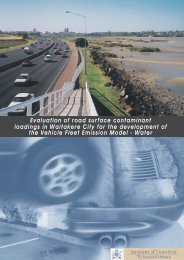 Evaluation of road surface contaminant loadings in Waitakere City ...