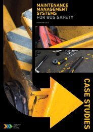 Maintenance management systems for bus safety - Case studies