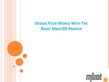 Desktop 3d Printer by Mbot
