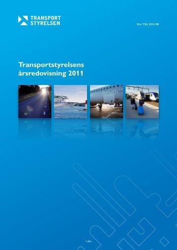 Transportstyrelsens årsredovisning 2011