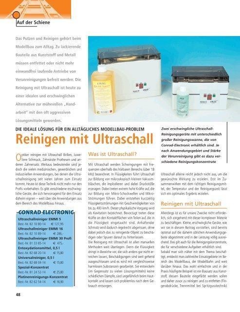 Reinigen mit Ultraschall - Emag AG