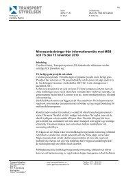 Minnesanteckningar från möte med MSB 2010-11-15