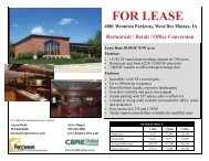 FOR LEASE 4001 Westown Parkway, West Des Moines, IA Restaurant