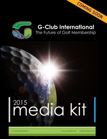 G-CLUB International www.g-clubintl.com info@g-clubintl.com