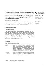 TSFS 2010:154 - Transportstyrelsen