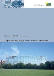 "Energy concept: New building ""Prisma"" Hochtief ... - Transsolar"