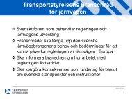 Bilaga 1: Inriktning - Transportstyrelsen