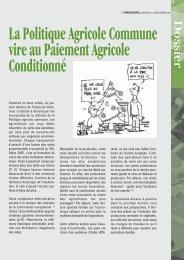 La Politique Agricole Commune vire au Paiement Agricole ...