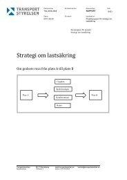Strategi om lastsäkring - Transportstyrelsen