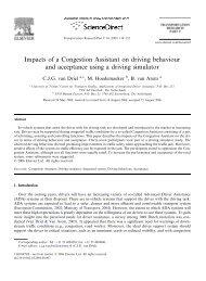 Paper Impacts congestion assistant IV - Transumo