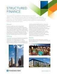 Structured Finance Factsheet - Transwestern