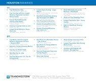 Houston Rankings 2013 - Transwestern