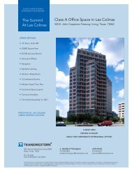 The Summit At Las Colinas Class A Office Space in ... - Transwestern