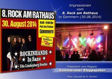 """""""Rock am Rathaus"""" in Gommern am 30.08.2014"""