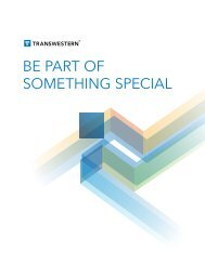 be part of something special - Transwestern