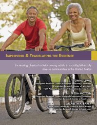 Increasing physical activity among adults in racially/ethnically ...