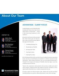About Our Team - Transwestern
