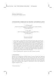 Paper Stochastic congestion costs Ketensynchronisatie - Transumo