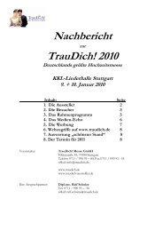 Nachbericht Stuttgart - Trau Dich Hochzeitsmesse