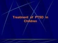 Treatment of Childhood PTSD