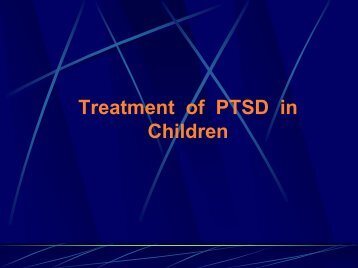 Treatment of Childhood PTSD