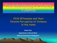 The Kaleidescope of Family Violence