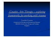 Creative Arts Therapy – exploring frameworks for working with trauma