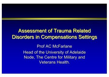 Approaches in Assessment and Management of Trauma-related ...