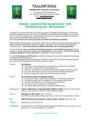 """Seminar """"Systemisches Konsensieren"""" (SK) - traumfirma"""